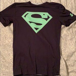 Large Heat Gear Superman Compression Shirt
